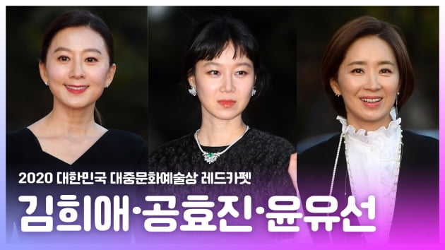 HK영상|김희애·공효진·윤유선, '레드카펫 빛내는 미소' (대중문화예술상)