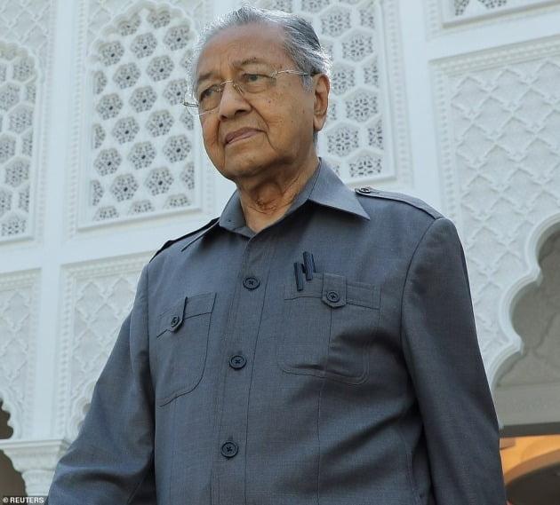 마하티르 모하맛 말레이시아 전 총리. 사진=데일리메일