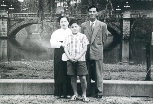 1950년대 일본 유학 시절 삼성 이건희 회장 모습. 사진=삼성전자 제공