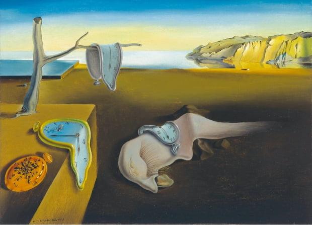 살바도르 달리의 1931년작 '기억의 지속', 캔버스에 유채, 24.1×33㎝, 뉴욕현대미술관 소장.