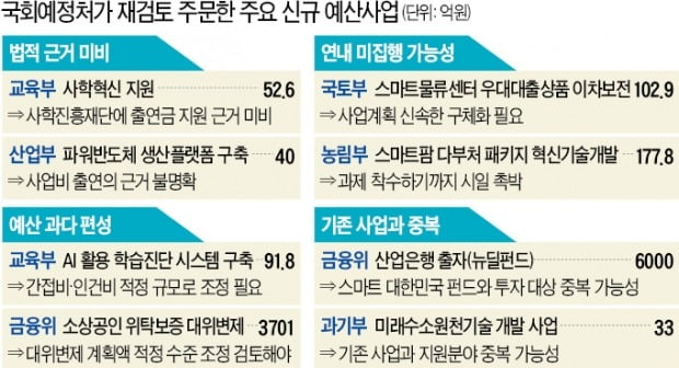 """""""내년 신규 예산사업 3분의 1 이 부실"""""""
