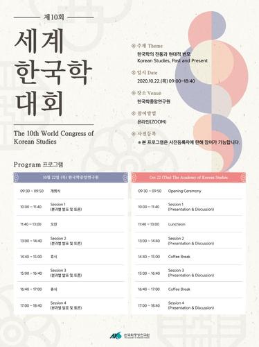 한중연, '한국학의 전통과 현대적 변모' 온라인 학술대회