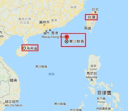 대만 프라타스 군도행 민항기, 홍콩의 제지로 회항