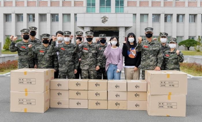 ㈜링거워터 링티, 해병대 제1사단에 2,400만원 상당 링티 기증