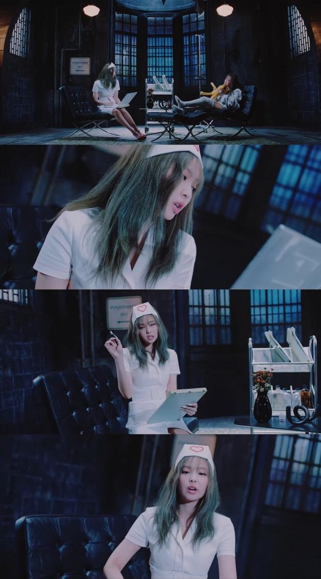 블랙핑크 '러브식 걸즈'의 뮤직비디오 일부 장면이 간호사를 성적 대상화했다는 비판이 제기됐다. / 사진='러브식 걸즈' 뮤직비디오 캡처