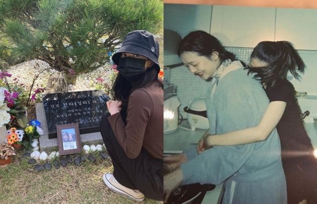 배우 김선아(왼쪽)와 故 설리와 함께 찍한 모습/ 사진= 김선아 인스타그램