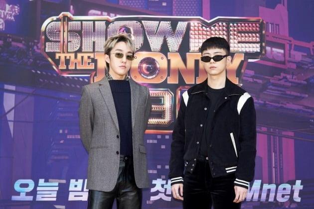 '쇼미더머니9' 프로듀서 자이언티(왼쪽), 기리보이/ 사진=Mnet 제공
