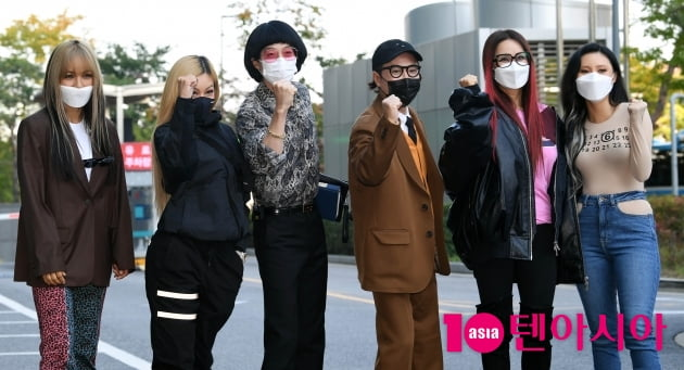 [TEN 포토] 환불원정대 '쇼 음악중심 접수하러 왔다'