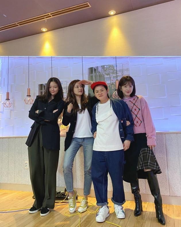 이솜, 고아성, 김신영, 박혜수./ 사진제공=정오의 희망곡 인스타그램