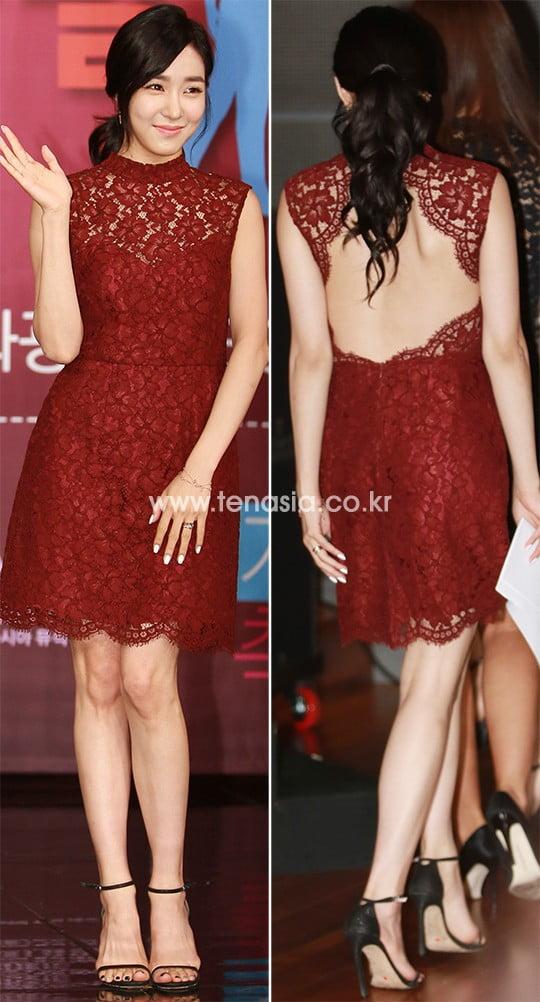 [스타탐구생활] 티파니 영, 허벅지까지 트인 드레스…'자비 없는 각선미' (TEN컷)