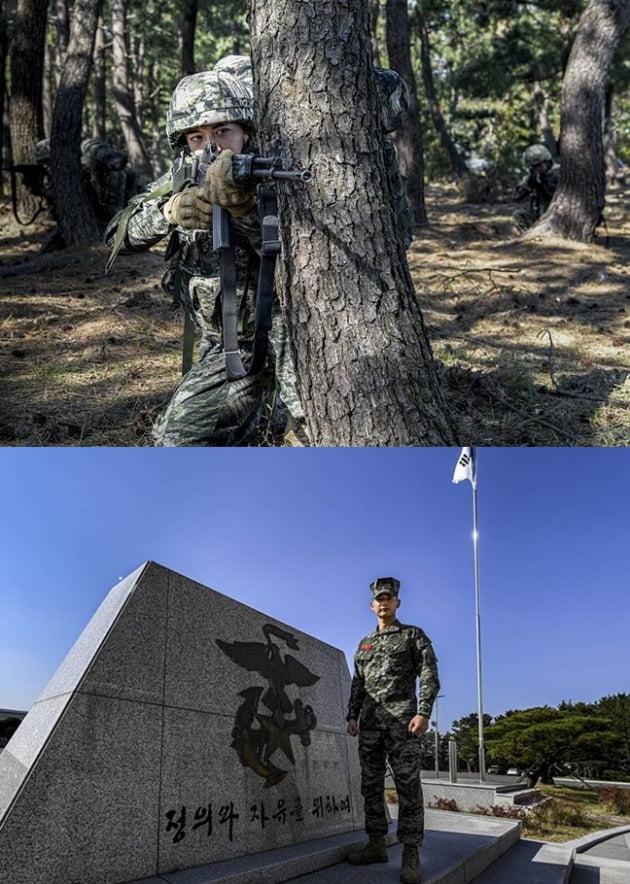 군 복무 중인 샤이니 민호/ 사진=해병대 SNS