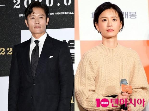제29회 부일영화상 주연상을 수상한 배우 이병헌(왼쪽), 정유미 / 사진=텐아시아DB