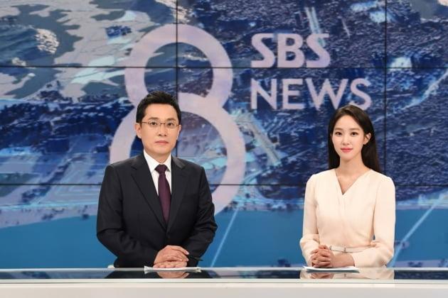 새 SBS 8뉴스 주말 앵커 김용태 기자(왼쪽), 주시은 아나운서/ 사진=SBS 제공