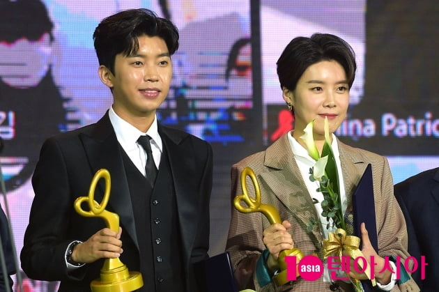 [TEN 포토] '2020 대중문화예술상' 임영웅X장도연, '문화체육관광부장관 표창 수상'