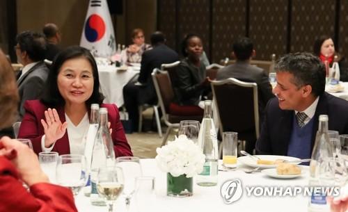 """'WTO 사무총장 도전' 유명희, 유럽서 총력전…""""고른 지지 확보"""""""