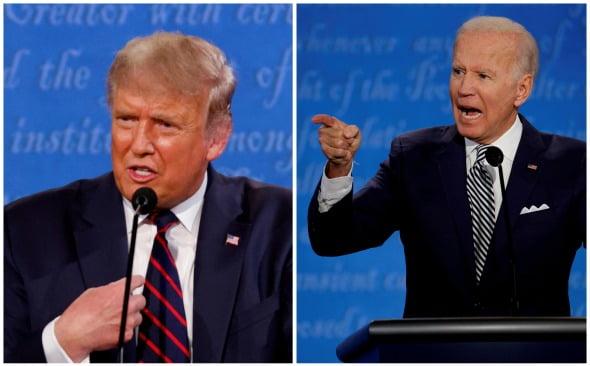 도널드 트럼프 미국 대통령(왼쪽)과 조 바이든 민주당 대선 후보. 로이터연합뉴스