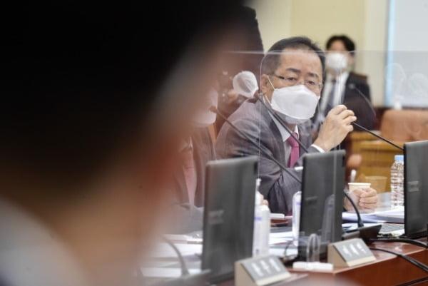 홍준표 무소속 의원이 지난 6일 국회 국방위원회 전체회의에서 발언하고 있다. /사진=연합뉴스