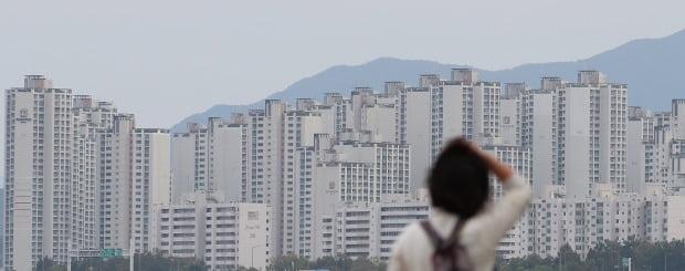 서울 잠실한강공원 일대에서 바라본 아파트 단지의 모습. /연합뉴스