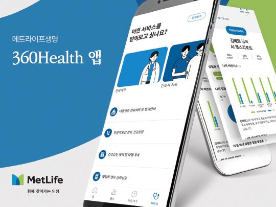 AI 기반 모바일 앱으로 건강관리, 메트라이프생명 360헬스 앱