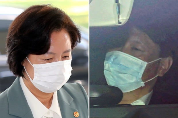 추미애 법무부 장관(왼쪽)과 윤석열 검찰총장. 사진=연합뉴스