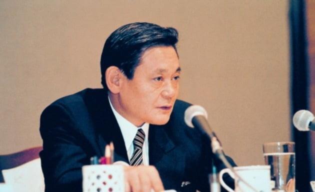 1993 신경영 선언 당시 이건희 회장 [사진=삼성전자 사진 제공]