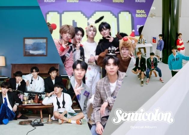 방탄소년단, NCT127, 세븐틴/사진=빅히트엔터테인먼트, SM엔터테인먼트, 플레디스
