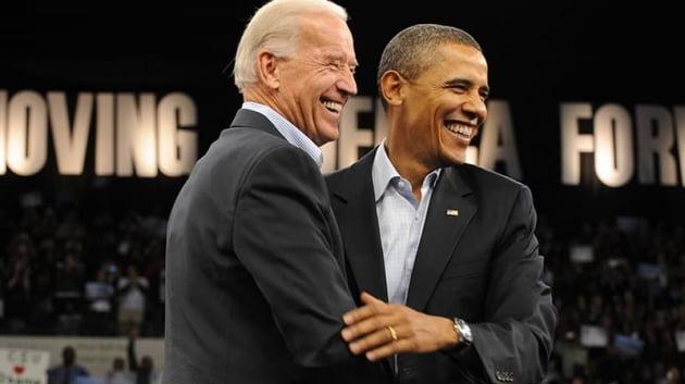 부통령 시절 조 바이든과 버락 오바마 전 대통령. 캠프 제공