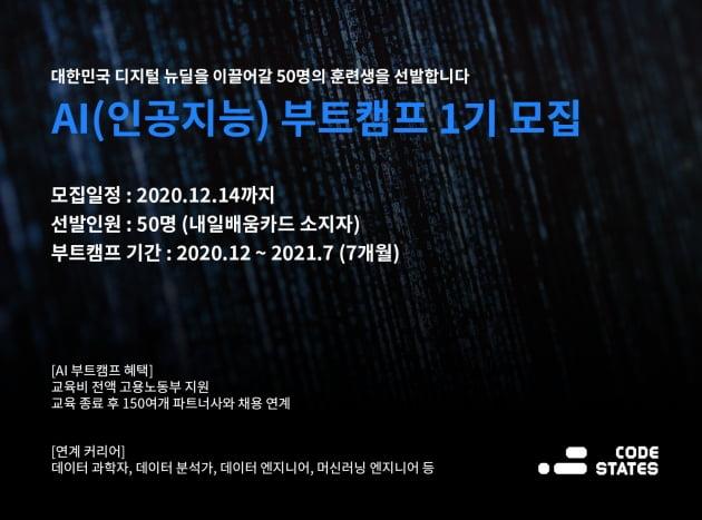 코드스테이츠, 'AI 부트캠프' 개최...AI 인재 육성 나선다