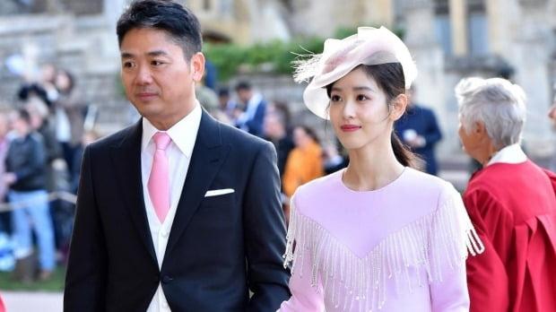 류창둥 징둥닷컴 회장과 아내 장쩌톈