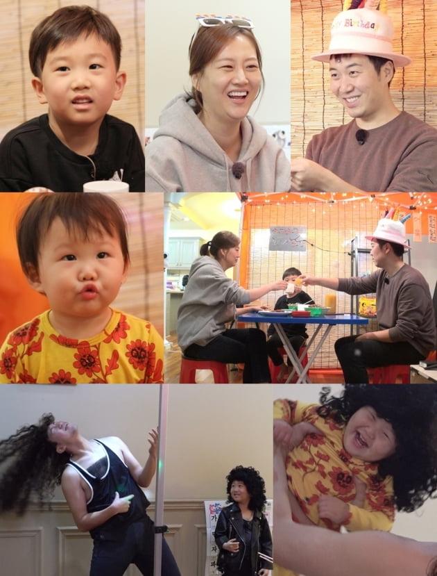 '슈퍼맨이 돌아왔다'에 출연 중인 장윤정 도경완 가족