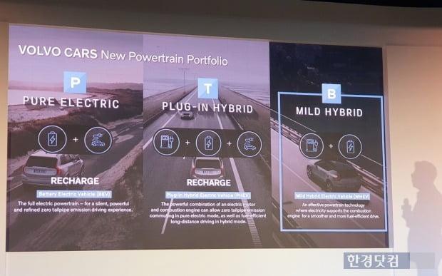 볼보는 2021년식 차량부터 친환경 파워트레인을 전면 적용했다. 사진=오세성 한경닷컴 기자
