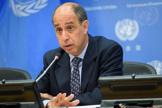 토마스 오헤야 킨타나 유엔 인권보고관.  /사진=UN Photo/Loey Felipe