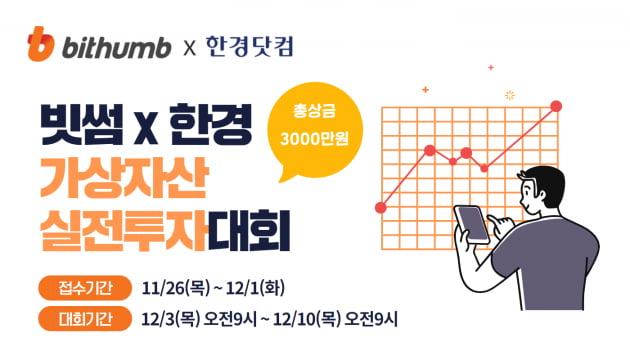 빗썸, 한경과 손잡고 '가상자산 실전투자대회' 개최
