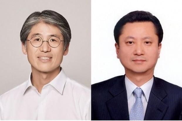 김재천(왼쪽) AK플라자 신임 대표와 송병호 애경개발 신임 대표. /사진=애경그룹 제공