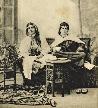 19세기 모로코 탕헤르의 하렘.