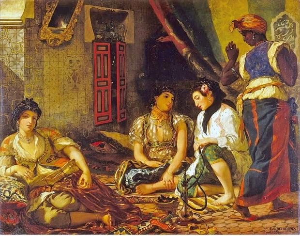 외젠 들라크루아, '알제의 여인들, 1834년, 루브르박물관 소장.