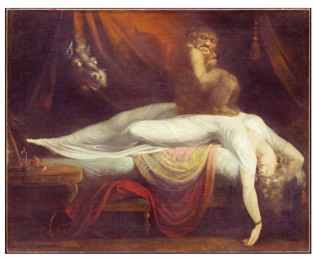 헨리 푸셀리, '악몽The Nightmare', 1781, 미국 디트로이트 미술관 소장