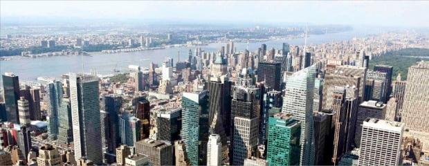 뉴욕 맨해턴 전경    한경DB