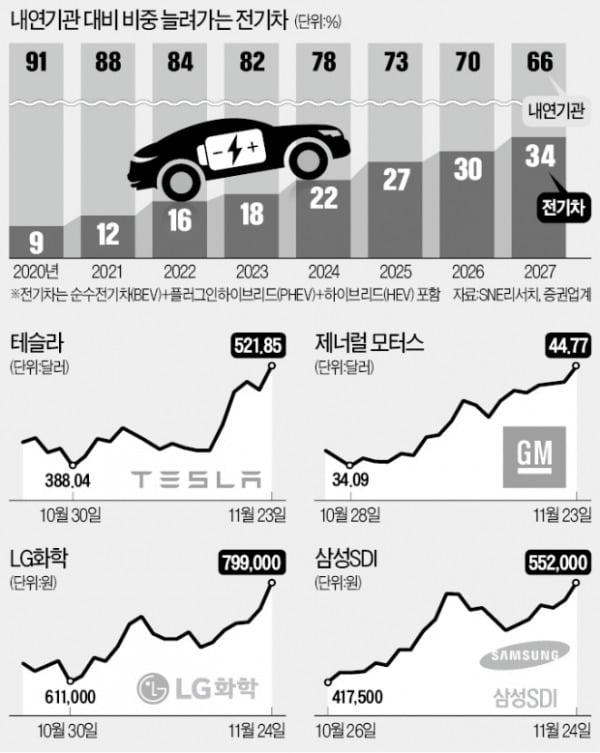 """""""테슬라, 진짜 천슬라 되나"""" LG화학 덩달아…"""