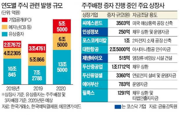코로나 역설…주식발행 '사상 최대'