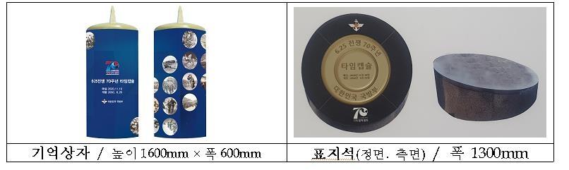 6·25 70주년 타임캡슐 묻어…추모글·자유수호메달 등 담겨