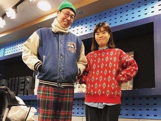 개그맨 김영철(왼쪽)과 고 박지선./사진 = 김영철 인스타그램