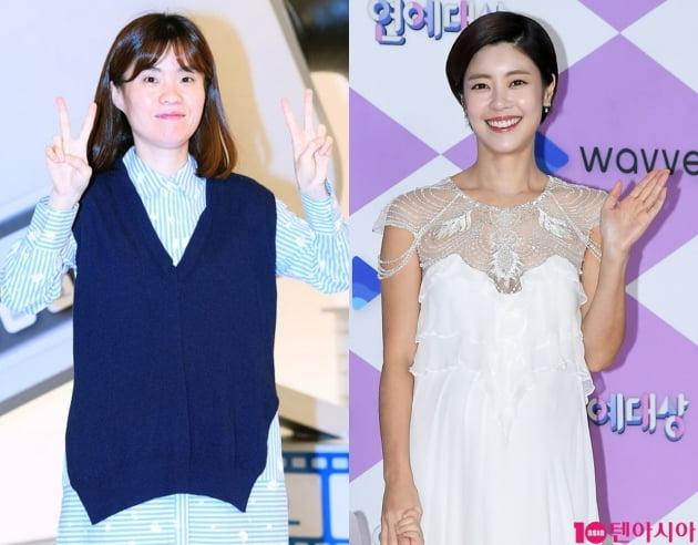 개그우먼 박지선(왼쪽), 배우 이윤지 / 사진=텐아시아DB