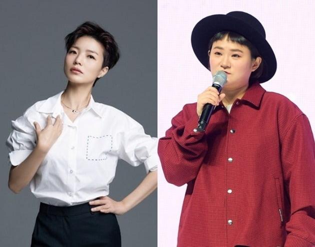 개그우먼 안영미, 김신영.