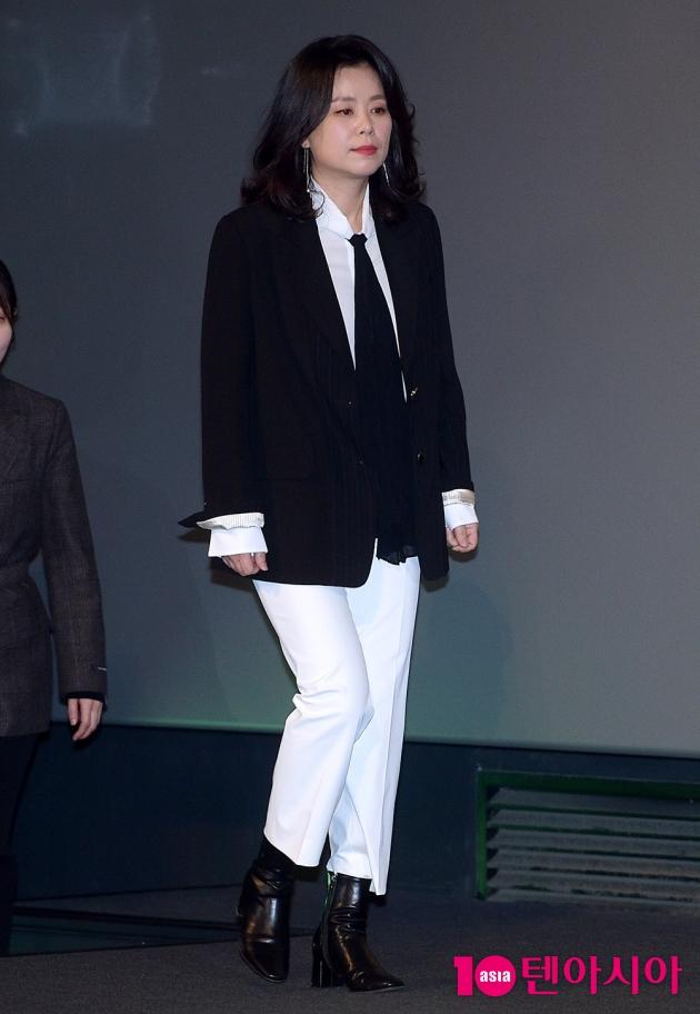 [TEN 포토] '애비규환' 장혜진, '멋짐 폭발하는 시사회 패션'