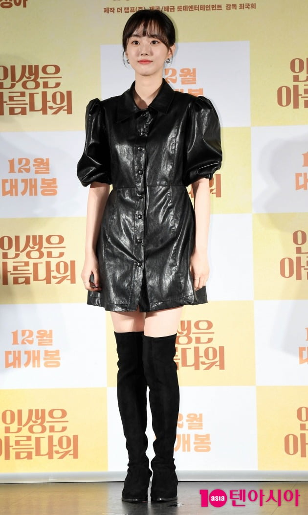 영화 '인생은 아름다워'에서 첫사랑을 시작한 여고생, 어린 세연을 연기한 배우 박세완./ 사진=조준원 기자