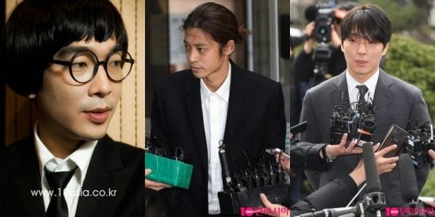 성 범죄를 일으킨 가수 고영욱(왼쪽부터), 정준영, 최종훈/ 사진=텐아시아DB