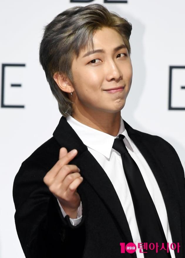 [TEN 포토] 방탄소년단 RM '순수한 하트'