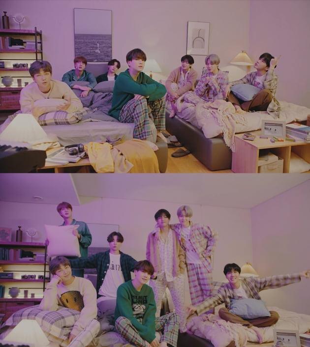 그룹 방탄소년단 'Life Goes On' 뮤비, on my pillow 버전./ 사진제공=빅히트 엔터테인먼트