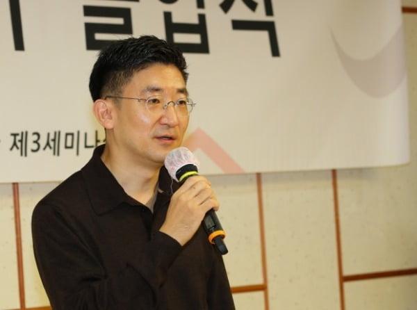 김세연 전 의원이 지난 8일 국회 의원회관에서 열린 청년정치학교 4기 졸업식에서 축사하고 있다. /사진=연합뉴스